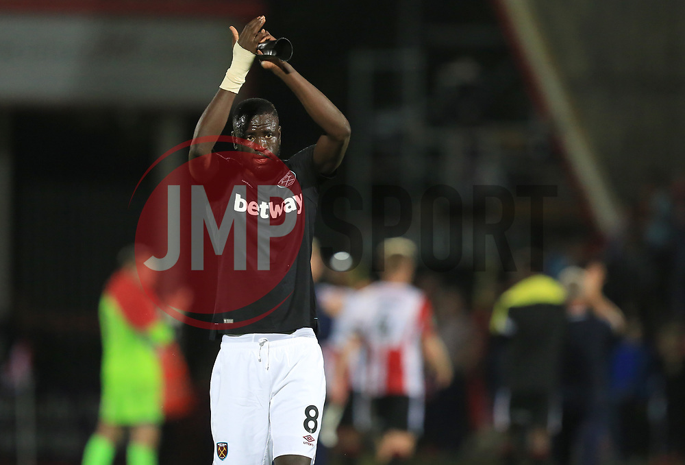 Cheikhou Kouyate of West Ham United - Mandatory by-line: Paul Roberts/JMP - 23/08/2017 - FOOTBALL - LCI Rail Stadium - Cheltenham, England - Cheltenham Town v West Ham United - Carabao Cup