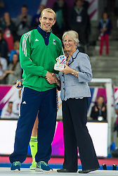 Ireland's David Harte was voted goalkeeper of the Championship. The Netherlands v Germany - Final Unibet EuroHockey Championships, Lee Valley Hockey & Tennis Centre, London, UK on 29 August 2015. Photo: Simon Parker