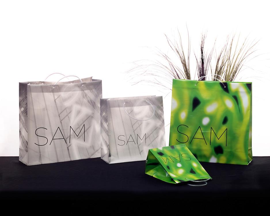Designer shopping bags for Kal Pac.