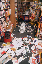 Scene following burglary in bookshop,