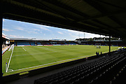 The Cugston stand before start of play, the Sky Bet League 1 match between Scunthorpe United and Millwall at Glanford Park, Scunthorpe, England on 22 August 2015. Photo by Ian Lyall.
