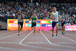 23/07/2017 : Paul Keogan (IRL), Mostafa Mohamed (EGY), Sofiane Hamdi (ALG), Valentin Bertrand (FRA), T37, Men's 400m, Final, at the 2017 World Para Athletics Championships, Olympic Stadium, London, United Kingdom