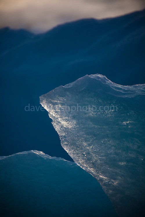 """Blue Ice - part of an Iceberg photographed in Leifdefjorden, northern Svalbard. The name Svalbard means 'Cold Edge"""" in Old Norse.<br />  This mage can be licensed via Millennium Images. Contact me for more details, or email mail@milim.com For giclée prints, contact me, or click """"add to cart"""" to some standard print options."""