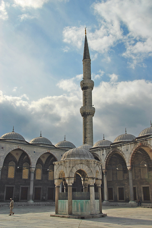 Istanbul is home to a number of impressive architectural sites from Hagia Sofia to Blue Mosque. Minarett's stand as impressive icons of Muslim faith in Turkey
