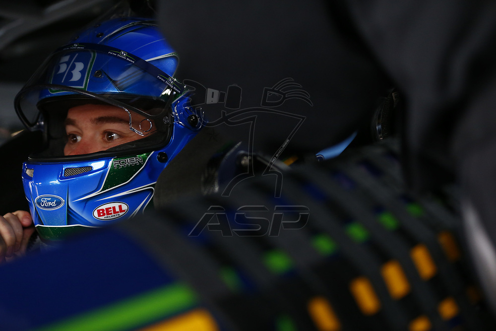 May 05, 2017 - Talladega, Alabama, USA: \{persons}\ hangs out in the garage during practice for the GEICO 500 at Talladega Superspeedway in Talladega, Alabama.