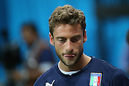 Claudio Marchisio of Italy looks on during the Italy open training session at Arena da Amazonia, Manaus, Brazil<br /> Picture by Andrew Tobin/Focus Images Ltd +44 7710 761829<br /> 13/06/2014