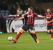 Dundee's David Clarkson bursts past St Johnstone's Chris Millar -  Dundee v St Johnstone, SPFL Premiership at Dens Park<br /> <br />  - &copy; David Young - www.davidyoungphoto.co.uk - email: davidyoungphoto@gmail.com