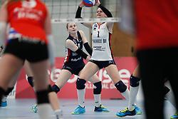 20190112 NED: Sliedrecht Sport - VC Sneek: Sliedrecht<br />Florien Reesink (5) of Sliedrecht Sport, Christie Wolt (1) of Sliedrecht Sport <br />©2019-FotoHoogendoorn.nl / Pim Waslander