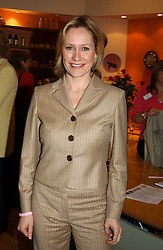 BBC Newsreader SOPHIE RAWORTH at a party attended by HRH The Countess of Wessex to celebrate the 5th birthday of Breast Cancer Haven's - The London Haven, Effie Road, London on 10th February 2005.<br />