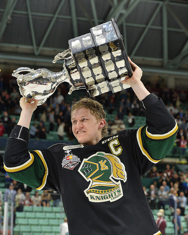 The London Knights defeated the Rouyn-Noranda Huskies 3-2 in the first overtime period to win the 2016 MasterCard Memorial Cup in Red Deer, Alberta on Sunday May 29, 2016. Photo by Terry Wilson / CHL Images.