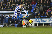 Reading forward Matej Vydra during the Sky Bet Championship match between Reading and Bristol City at the Madejski Stadium, Reading, England on 2 January 2016. Photo by Jemma Phillips.
