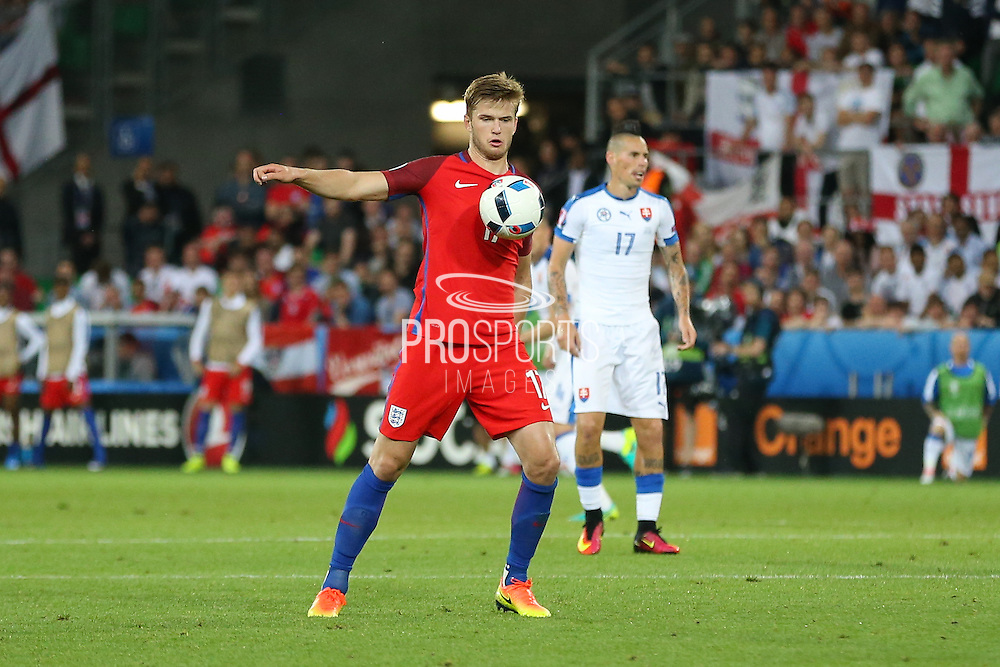 England Defender Eric Dier during the Euro 2016 Group B match between Slovakia and England at Stade Geoffroy Guichard, Saint-Etienne, France on 20 June 2016. Photo by Phil Duncan.