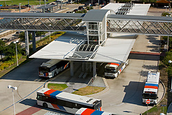 The Metro bus station at the Texas Medical Center in Houston, Texas.