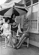 4/8/1964<br /> 8/4/1964<br /> 8 August 1964<br /> <br /> Olive Clancy, Olive Sherlock and Theresceline Towsome relax after a long walk