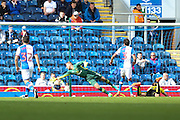 Jackson Irvine of Burton Albion scores the second goal of the game to make it 1-1 during the EFL Sky Bet Championship match between Blackburn Rovers and Burton Albion at Ewood Park, Blackburn, England on 20 August 2016. Photo by Simon Brady.