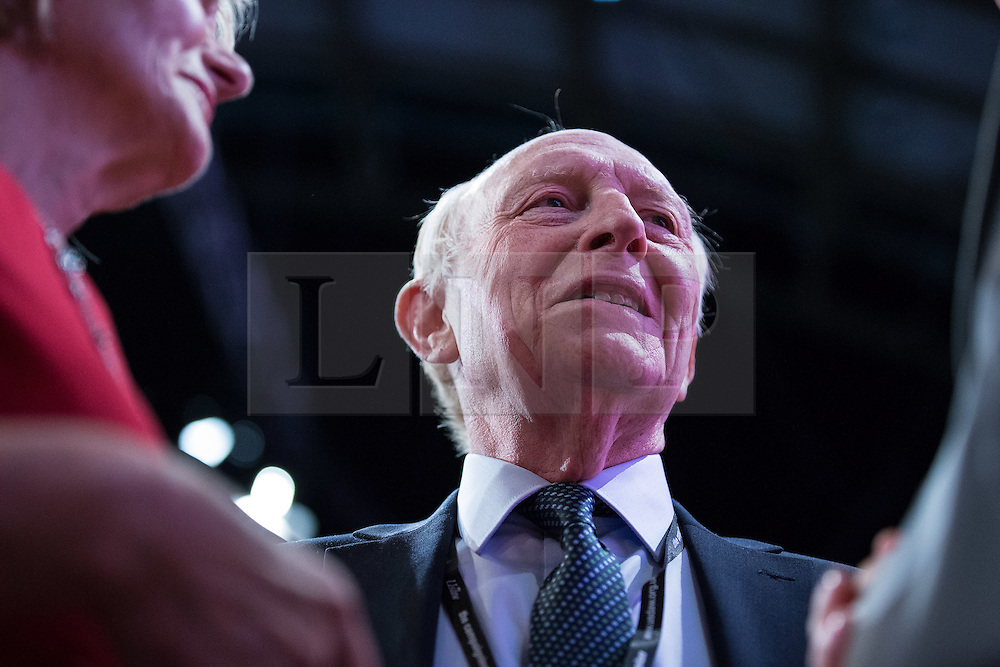 © Licensed to London News Pictures . 23/09/2014 . Manchester , UK . Neil Kinnock before Ed Miliband delivers the leader's speech to the conference . The Labour Party Conference 2014 . Photo credit : Joel Goodman/LNP