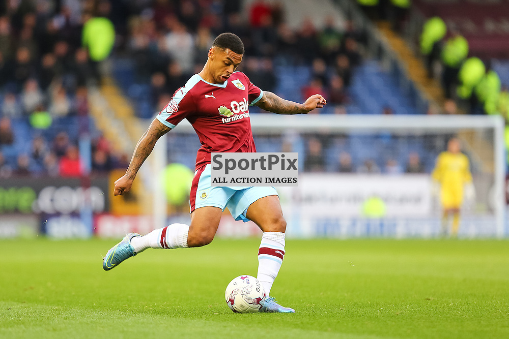 Andre Gray of Burnley in action during Burnley v Bolton, Sky Bet Championship, 17 October 2015,  (c) Jackie Meredith/SportPix.org.uk