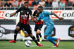 (L-R) Jeffry Fortes of Excelsior, Jamiro Monteiro of Heracles Almelo during the Dutch Eredivisie match between sbv Excelsior Rotterdam and Heracles Almelo at Van Donge & De Roo stadium on April 18, 2018 in Rotterdam, The Netherlands