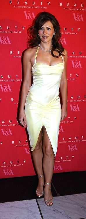 LIZ HURLEY wearing a Versace dress and Jimmy Choo shoesat a party to launch 'Beauty Week' at the V&A in association with Estee Lauder- a special week of debates, talks and performances celebrating beauty on 24th January 2005.<br /><br />NON EXCLUSIVE - WORLD RIGHTS