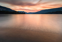 """""""Donner Lake Sunset 42"""" - Photography of Donner lake in Truckee, California shot at sunset"""