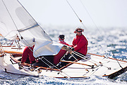 Syce, 6 Meter Class, sailing in the Museum of Yachting Classic Yacht Regatta.