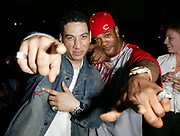 NEW YORK - June 2: [US TABS AND HOLLYWOOD REPORTER OUT] DJ Kid Capri and rapper Busta Rhymes attend the 28th T.J. Martell Foundation Humanitarian Gala at the New York Hilton June 2, 2003 in New York City.  MTV Group President Judy McGrath was honored with Humanitarian of the Year award this year. (Photo by Matthew Peyton)