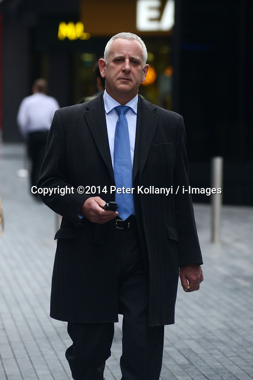 Former Barclays traders Trial. Charles Johnson leaves Southwark Crown Court, Southwark Crown Court, London, United Kingdom. Monday, 3rd March 2014. Picture by Peter Kollanyi / i-Images