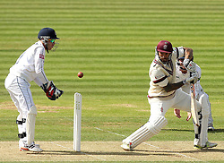 Somerset's Peter Trego cuts the ball - Photo mandatory by-line: Robbie Stephenson/JMP - Mobile: 07966 386802 - 21/06/2015 - SPORT - Cricket - Southampton - The Ageas Bowl - Hampshire v Somerset - County Championship Division One