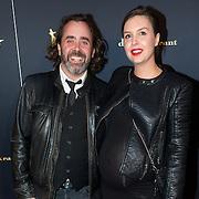 NLD/Utrecht/20150930 - Premiere De Grote Zwaen, Horace Cohen en zwangere partner Puck Janssen