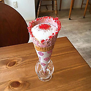 Coffee Cone – In Tokyo, this café serves tea and coffee in crispy cones<br /> <br /> This is Coffee in a Cone, a new trend launched by Coffee Cone, based in Tokyo. This Japanese café had the brilliant idea to serve its teas, coffees and other capuchino in ice cream cones decorated with colorful sugar, creating some delicious edible and crispy cups! <br /> ©Coffee Cone/Exclusivepix Media