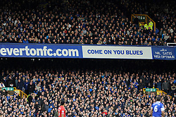 Everton Fans - Photo mandatory by-line: Dougie Allward/JMP - Tel: Mobile: 07966 386802 23/11/2013 - SPORT - Football - Liverpool - Merseyside derby - Goodison Park - Everton v Liverpool - Barclays Premier League