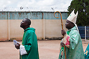 The Archbishop of Jos, Ignatius Kaigama, 54, is about to celebrate a Mass Service at the Christian Catholic Cathedral Of Our Lady Fatima in Jos, Plateau State, Nigeria.