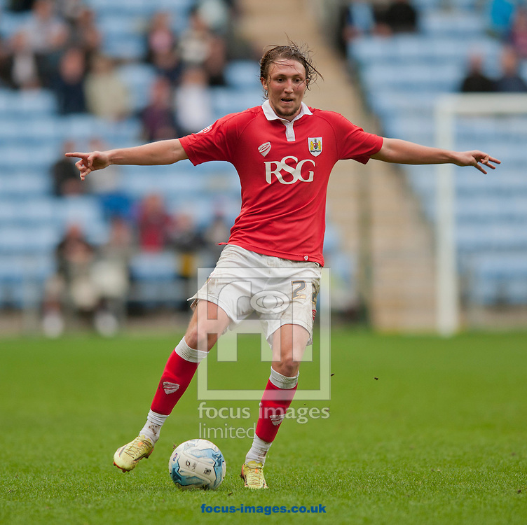 Luke Ayling of Bristol City during the Sky Bet League 1 match at the Ricoh Arena, Coventry<br /> Picture by Russell Hart/Focus Images Ltd 07791 688 420<br /> 18/10/2014