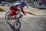 16 Boys #255 (KULTYSHEV Arkhip) RUS at the 2018 UCI BMX World Championships in Baku, Azerbaijan.