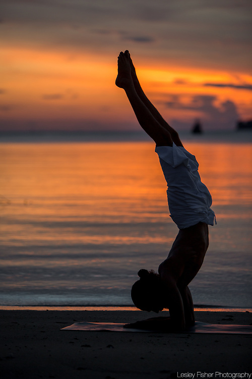 Yoga practice at Zazen Boutique Resort and Spa located on Bophut Beach, Koh Samui, Thailand