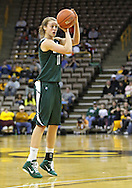 January 27 2010: Michigan St. guard Annalise Pickrel (11) puts up a shot during the second half of an NCAA women's college basketball game at Carver-Hawkeye Arena in Iowa City, Iowa on January 27, 2010. Iowa defeated Michigan State 66-64.