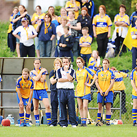 31 August 2008; Waterford senior hurling manager and trainer of Clare camogie team Davy Fitzgerald during the game All-Ireland Minor A Championship Final, Clare v Kilkenny, Geraldine Park, Athy, Co. Kildare. Picture credit: Paul Mohan / SPORTSFILE *** NO REPRODUCTION FEE ***
