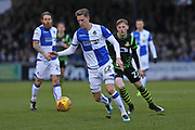 Bristol Rovers Joe Partington (22) on the ball during the EFL Sky Bet League 1 match between Bristol Rovers and Doncaster Rovers at the Memorial Stadium, Bristol, England on 23 December 2017. Photo by Gary Learmonth.