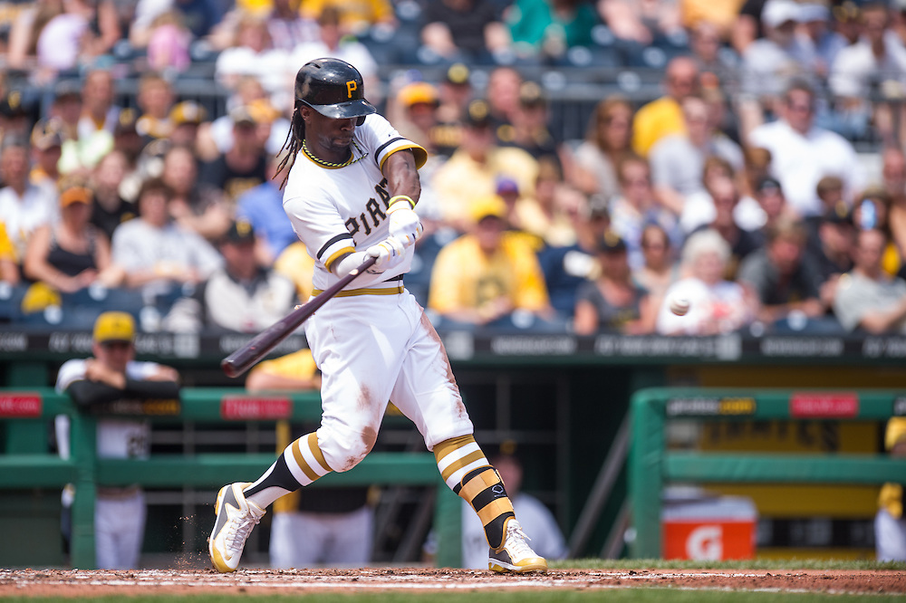 PITTSBURGH, PA - JUNE 08: Andrew McCutchen #22 of the Pittsburgh Pirates bats during the game against the Milwaukee Brewers at PNC Park on June 8, 2014 in Pittsburgh, Pennsylvania. (Photo by Rob Tringali) *** Local Caption *** Andrew McCutchen