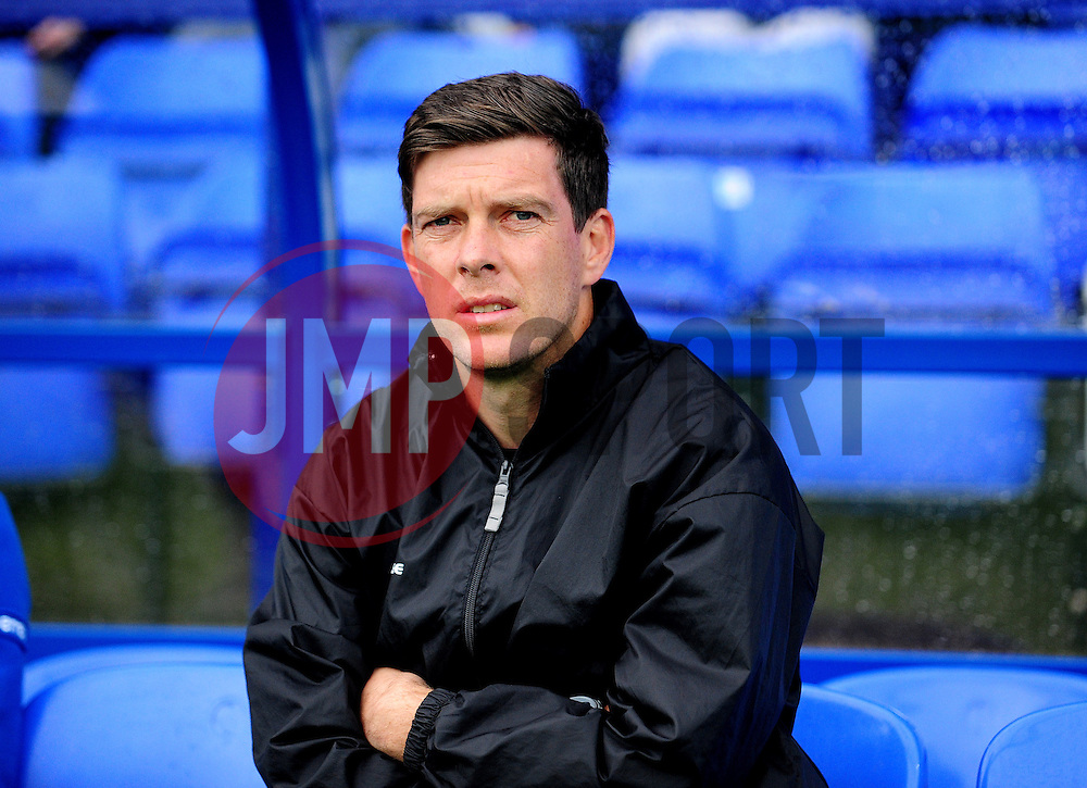 Bristol Rovers Manager, Darrell Clarke - Photo mandatory by-line: Neil Brookman/JMP - Mobile: 07966 386802 - 08/11/2014 - SPORT - Football - Birkenhead - Prenton Park - Tranmere Rovers v Bristol Rovers - FA Cup - Round One