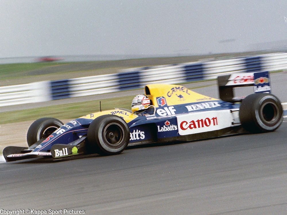 Nigel Mansell, Red 5, Williams Renault, British Formula One, Practice Grand Prix, Sllverstone, 12th July 1992