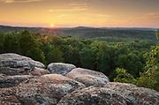 Sunset at Garden of the Gods Recreation Area, Shawnee National Forest, Illinois.