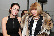 Bee Schaffer and mother Anna Wintour at a New York Fashion Week show.