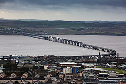 The Tay Rial Bridge from The Law,  Dundee.