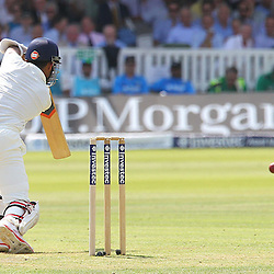 India's Ajinkya Rahane during the first day of the Investec 2nd Test match between England and India at Lords, London, 17th July 2014 © Phil Duncan | SportPix.org.uk