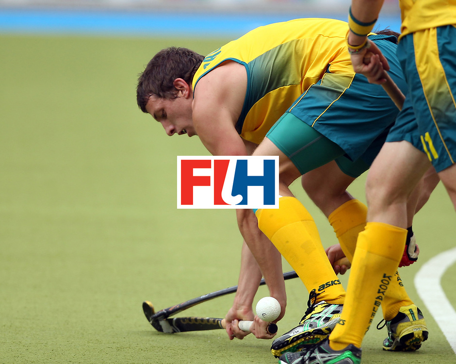 Mens Champions Trophy, Monchengladbach, Germany, 2010<br /> Day 6, 8/8/10, Mens Final, Australia v England<br /> Simon Orchard<br /> Credit: Grant Treeby<br /> <br /> Editorial use only (No Archiving) Unless previously arranged