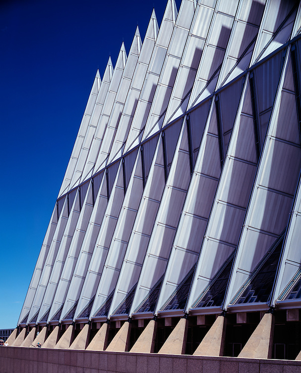 The US Air Force Academy Chapel, Colorado Springs, Colorado.