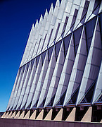 The US Air Force Academy Chapel, Colorado Springs, Colorado.