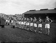 30/4/1958<br /> 4/30/1958<br /> 30 April 1958<br /> Ireland v Holland Amateur International at Dalymount Park, Dublin.