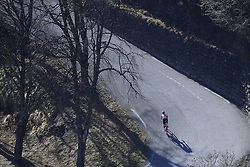 March 16, 2019 - Col De Turini, France - General view of a rider ascending the col de Turini during stage 7 of the 2019 Paris - Nice cycling race with start in Nice and finish in Col de Turini  on March 16, 2019 in Col De Turini, France, (Credit Image: © Panoramic via ZUMA Press)